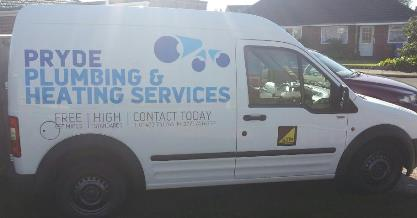 Pryde plumbing and heating services - Van